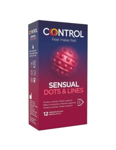 Condoms Sensual Dots & Lines Control...