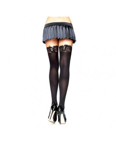 Opaque Stockings with Lace Leg Avenue
