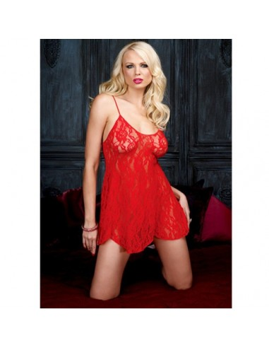 BabyDoll in Roter Spitze Leg Avenue